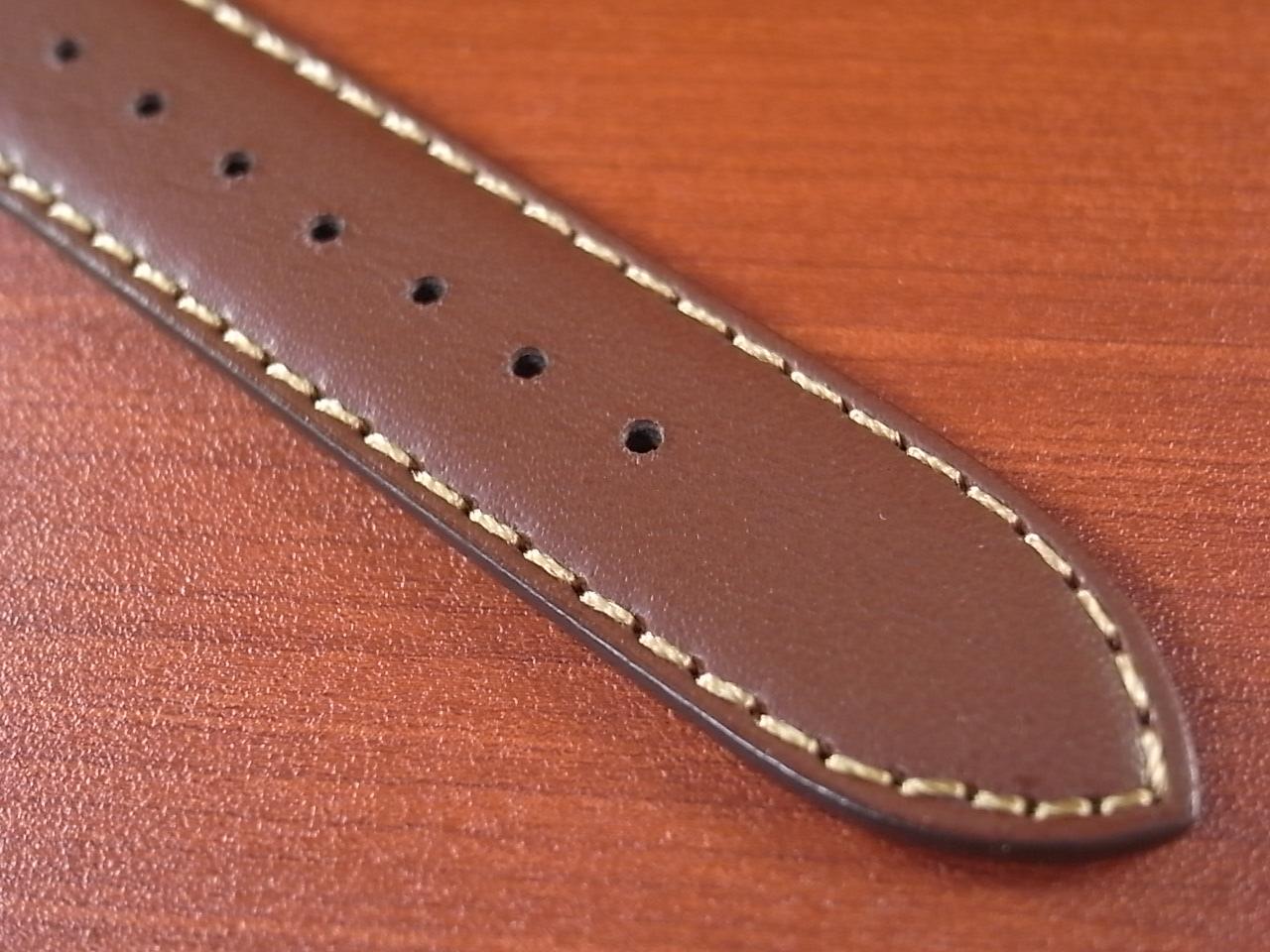 カーフ革ベルト 赤茶 18mm オリジナル CC-003の写真5枚目