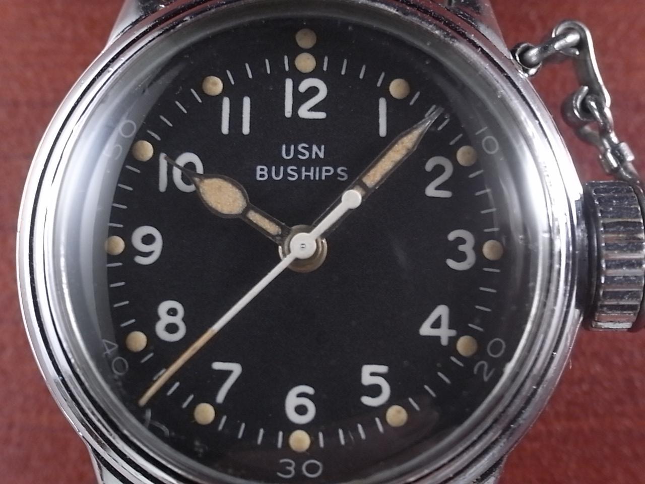 ハミルトン 軍用時計 米海軍 USN BUSHIPS 1940年代の写真2枚目