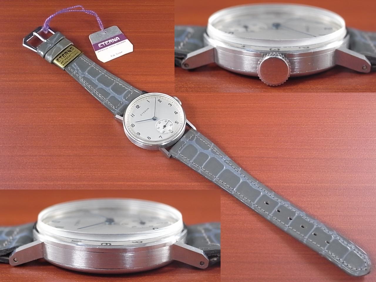エテルナ シリンダーケース 未使用品 オリジナルベルト タグ付き 1940年代の写真3枚目