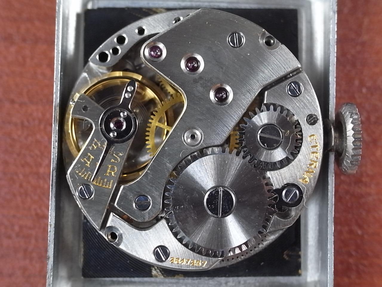 エテルナ レクタンギュラー 未使用品 ブラックミラーダイアル 1930年代の写真5枚目