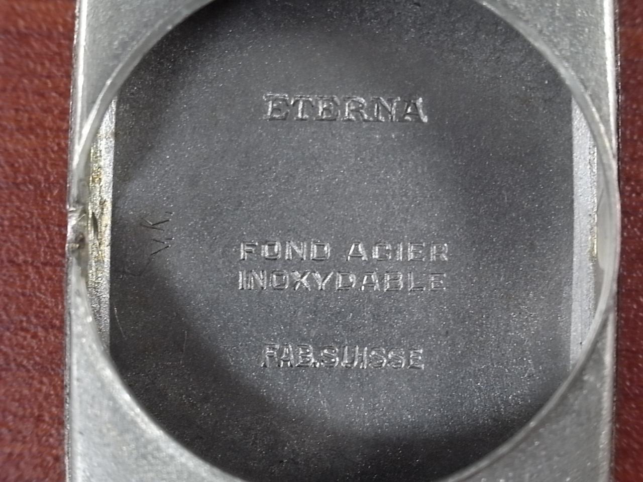 エテルナ レクタンギュラー 未使用品 ブラックミラーダイアル 1930年代の写真6枚目