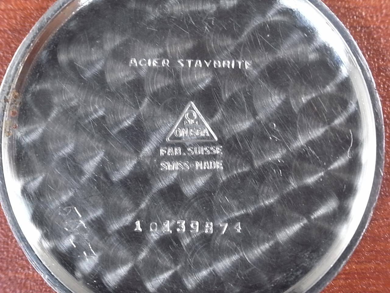 オメガ ボーイズ ローマンインデックス ブラックダイアル Cal.26.5 T3 1940年代の写真6枚目