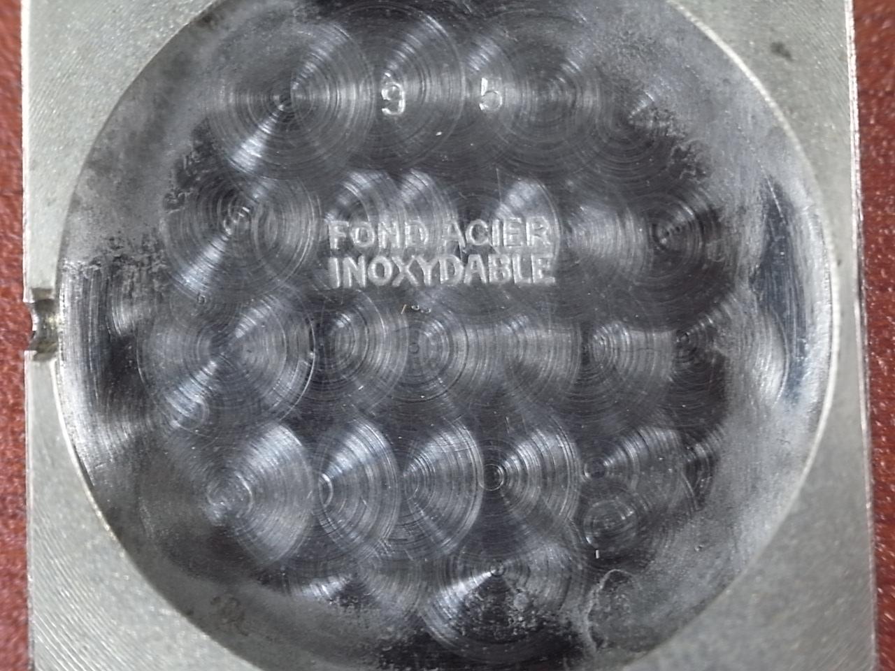 セルティナ スクエアケース 未使用品 ブラックミラーダイアル 1940年代の写真6枚目