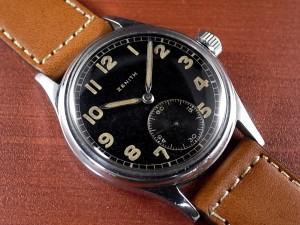 ゼニス 軍用時計 ドイツ陸軍 DH SSケース スクリューバック 1940年代