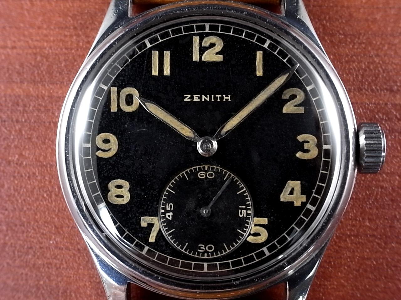 ゼニス 軍用時計 ドイツ陸軍 DH SSケース スクリューバック 1940年代 の写真2枚目