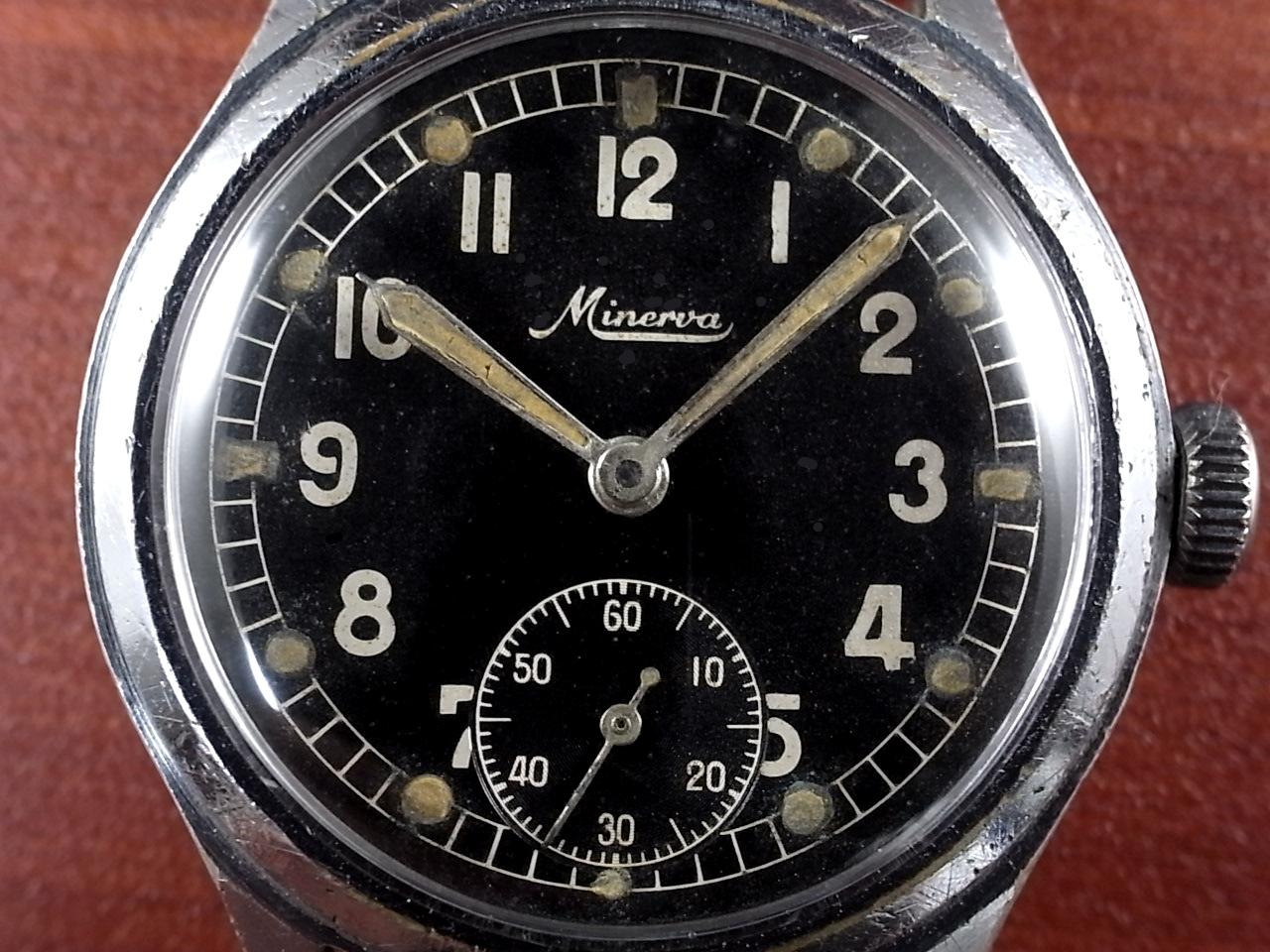 ミネルバ 軍用時計 ドイツ陸軍 DH スクリューバック 1940年代の写真2枚目