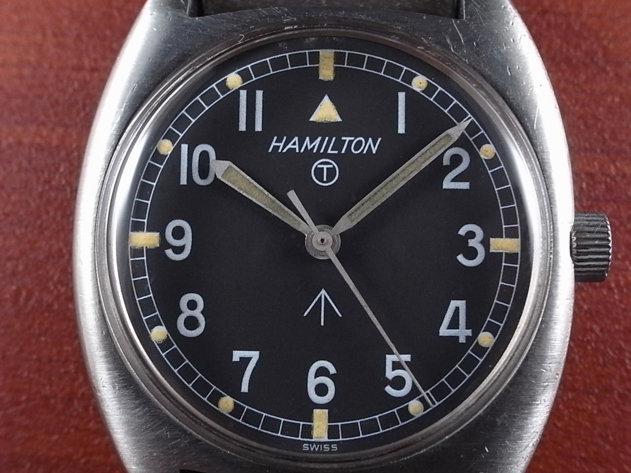 ハミルトン 軍用時計 イギリス陸軍 W10 トノーケース 1970年代の写真2枚目