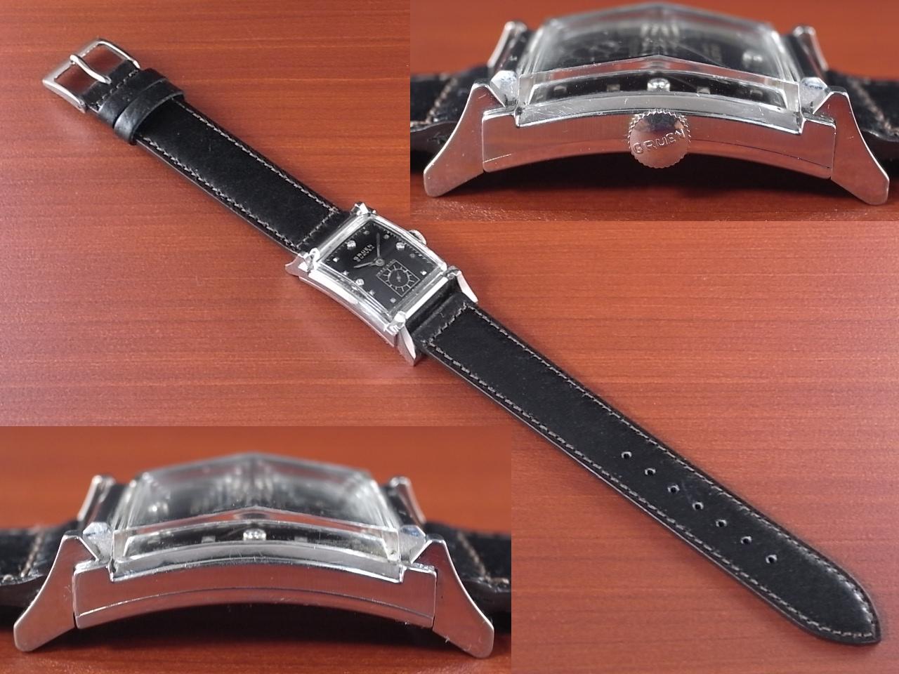 グリュエン カーベックス 14KWG ブラックミラーダイアル 1940年代の写真3枚目