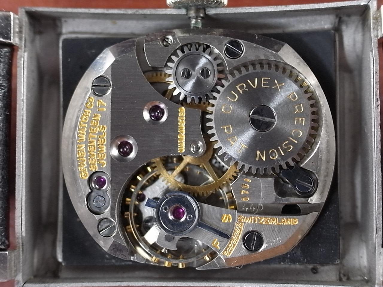 グリュエン カーベックス 14KWG ブラックミラーダイアル 1940年代の写真5枚目