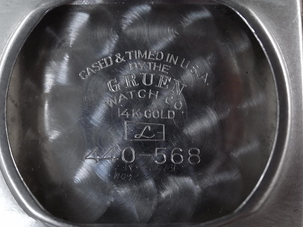 グリュエン カーベックス 14KWG ブラックミラーダイアル 1940年代の写真6枚目
