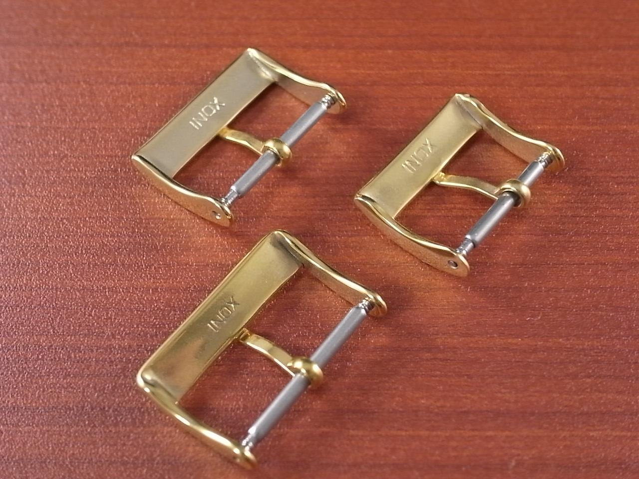 アンティーク尾錠 N.O.S. イエローゴールドメッキ(YGP) 18mm、20mmの写真2枚目