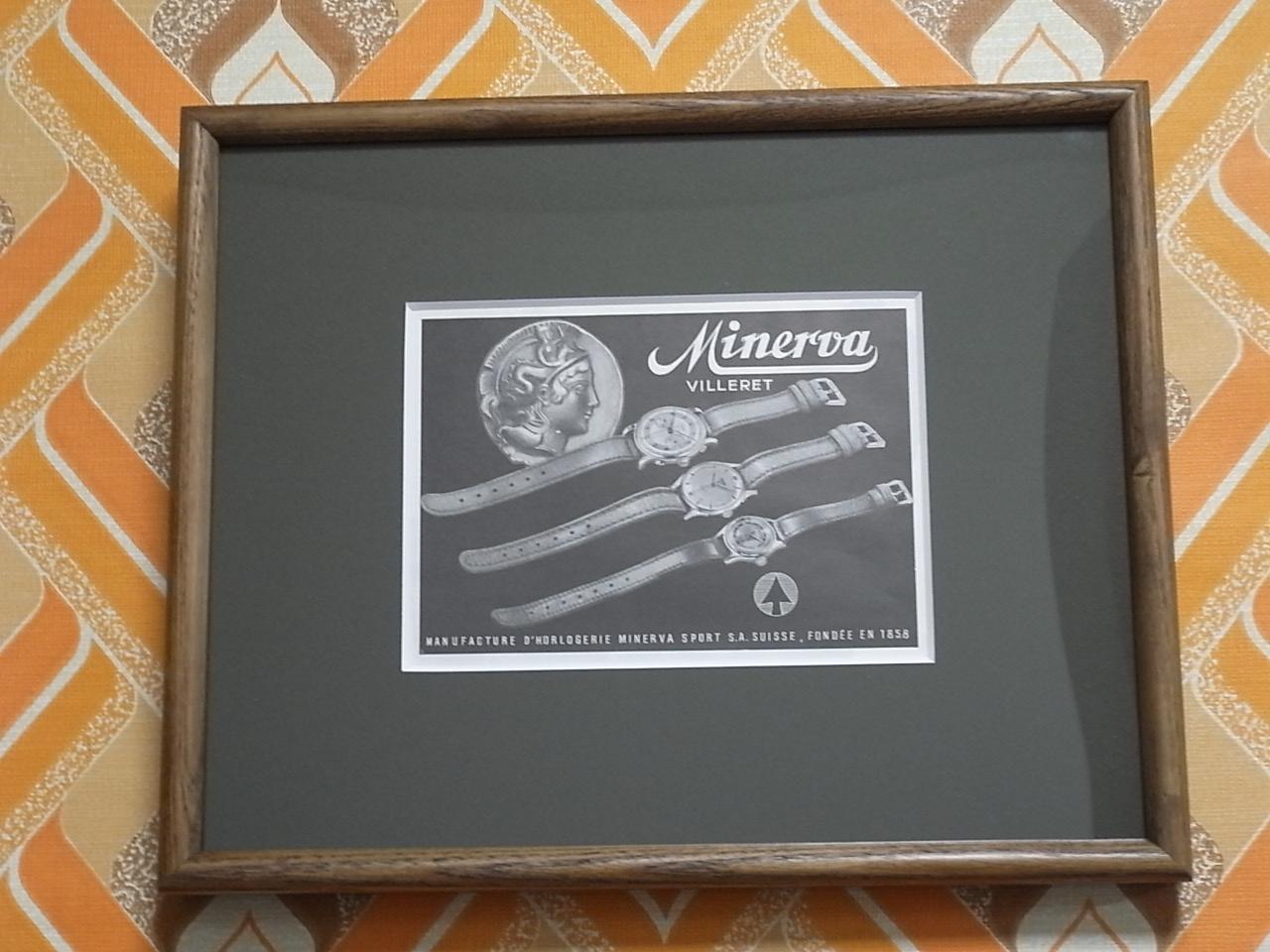 ミネルバ アドバタイジングA 木製フレーム(小) 1940年代のメイン写真