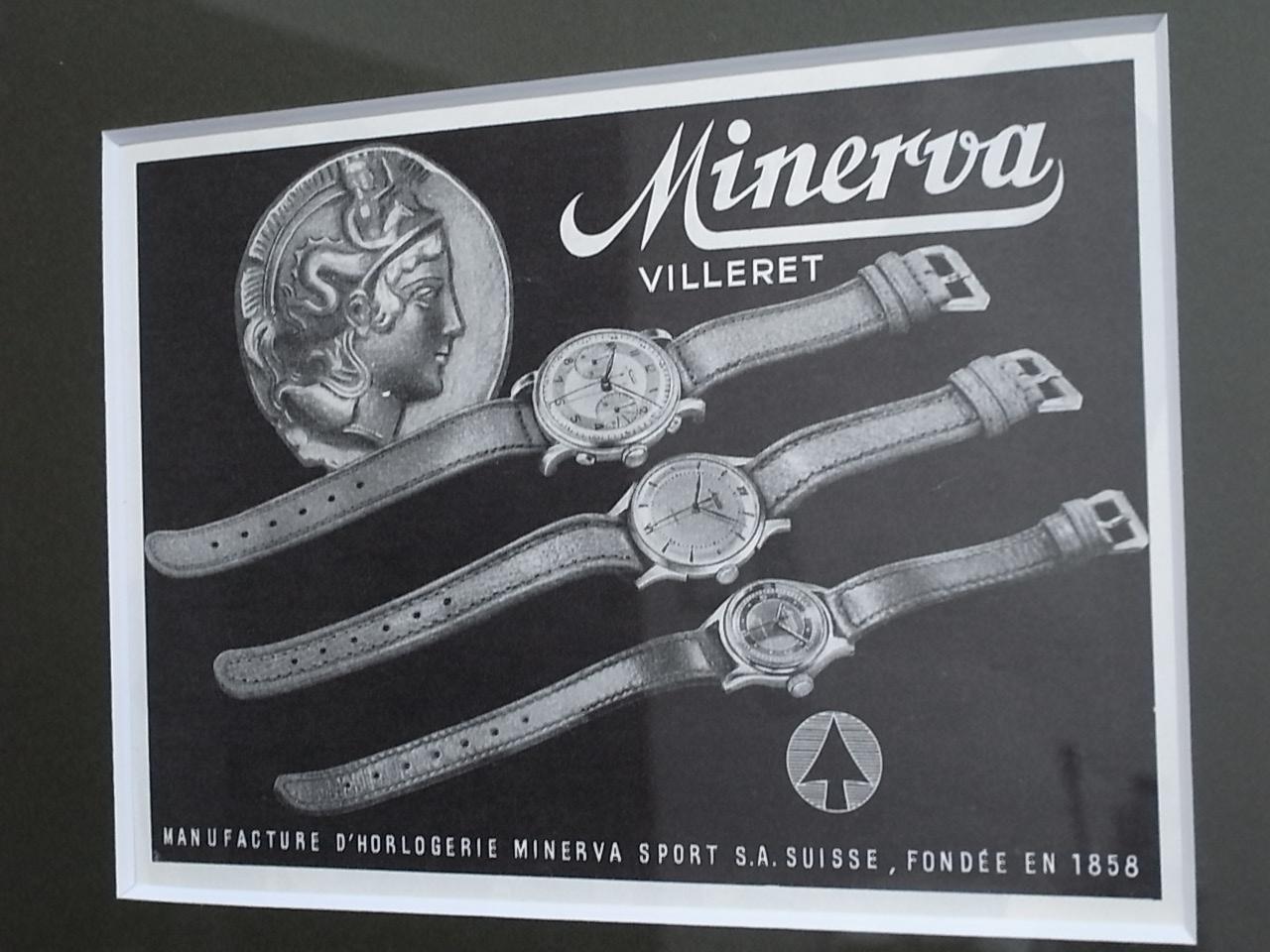 ミネルバ アドバタイジングA 木製フレーム(小) 1940年代の写真2枚目