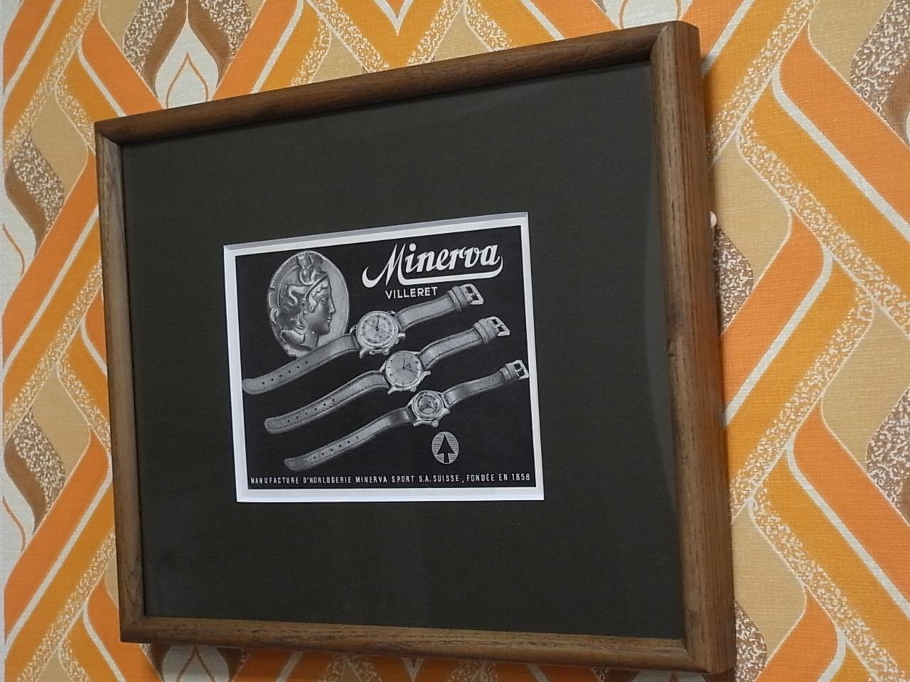 ミネルバ アドバタイジングA 木製フレーム(小) 1940年代の写真3枚目