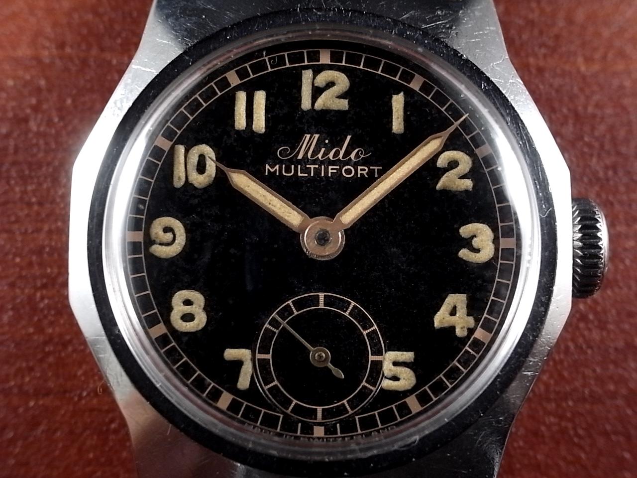 MIDO ミドー マルチフォート ブラックミラー マニュアルワインド 1940年代の写真2枚目