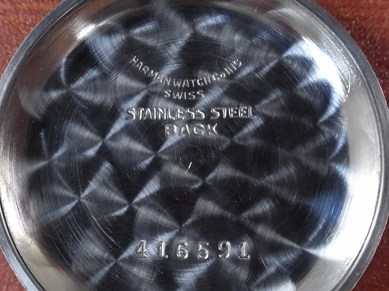 ハーマン シングルプッシュ ベビークロノグラフ ブラックミラーDL 1930年代の写真6枚目