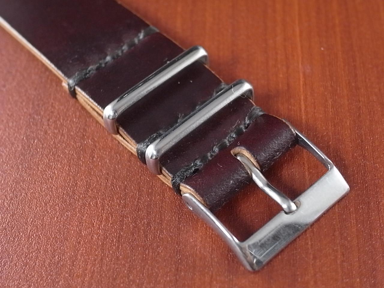 ホーウィン シェルコードバン 引き通し革ベルトの写真4枚目