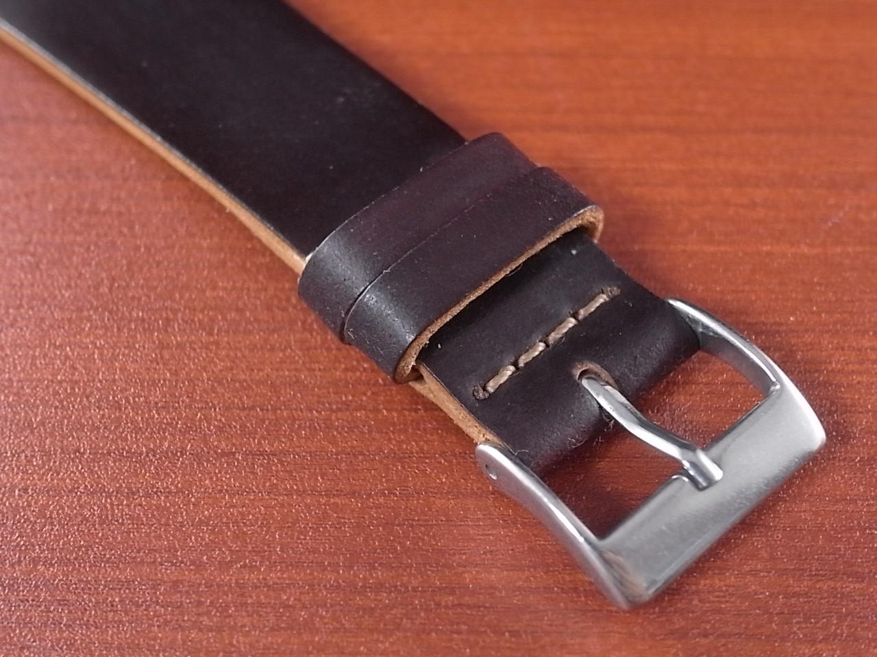 ホーウィン シェルコードバン 革ベルトの写真3枚目