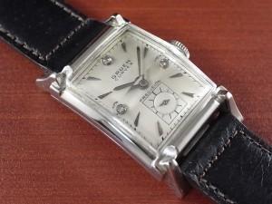 グリュエン カーベックス 14KWG ダイヤモンド ホワイトダイアル 1940年代
