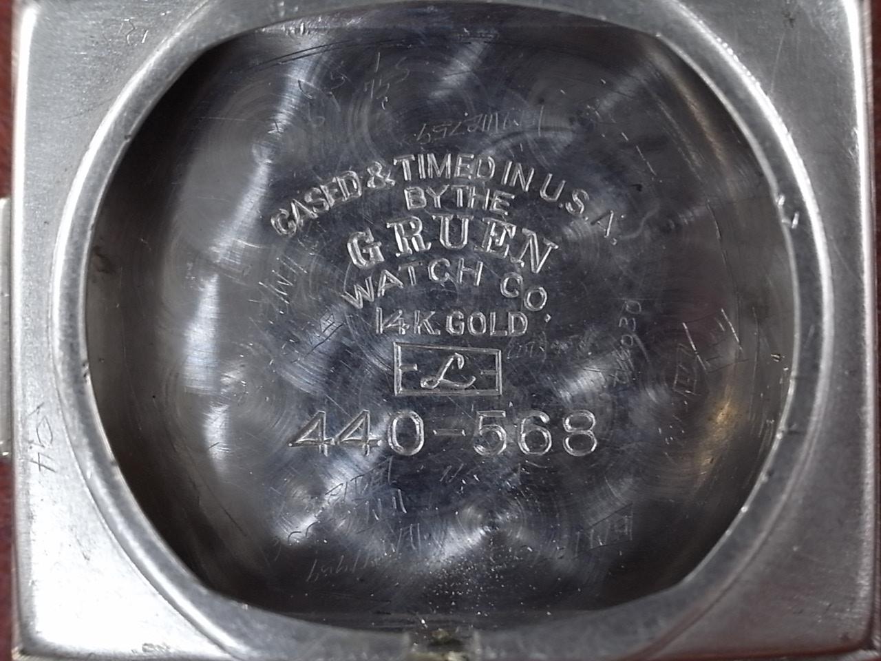 グリュエン カーベックス 14KWG ダイヤモンド ホワイトダイアル 1940年代の写真6枚目