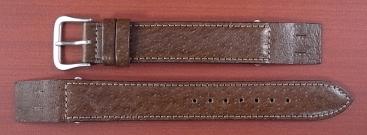 ピッグ革ベルト オープンエンド 茶 16、18mm CSA-003b