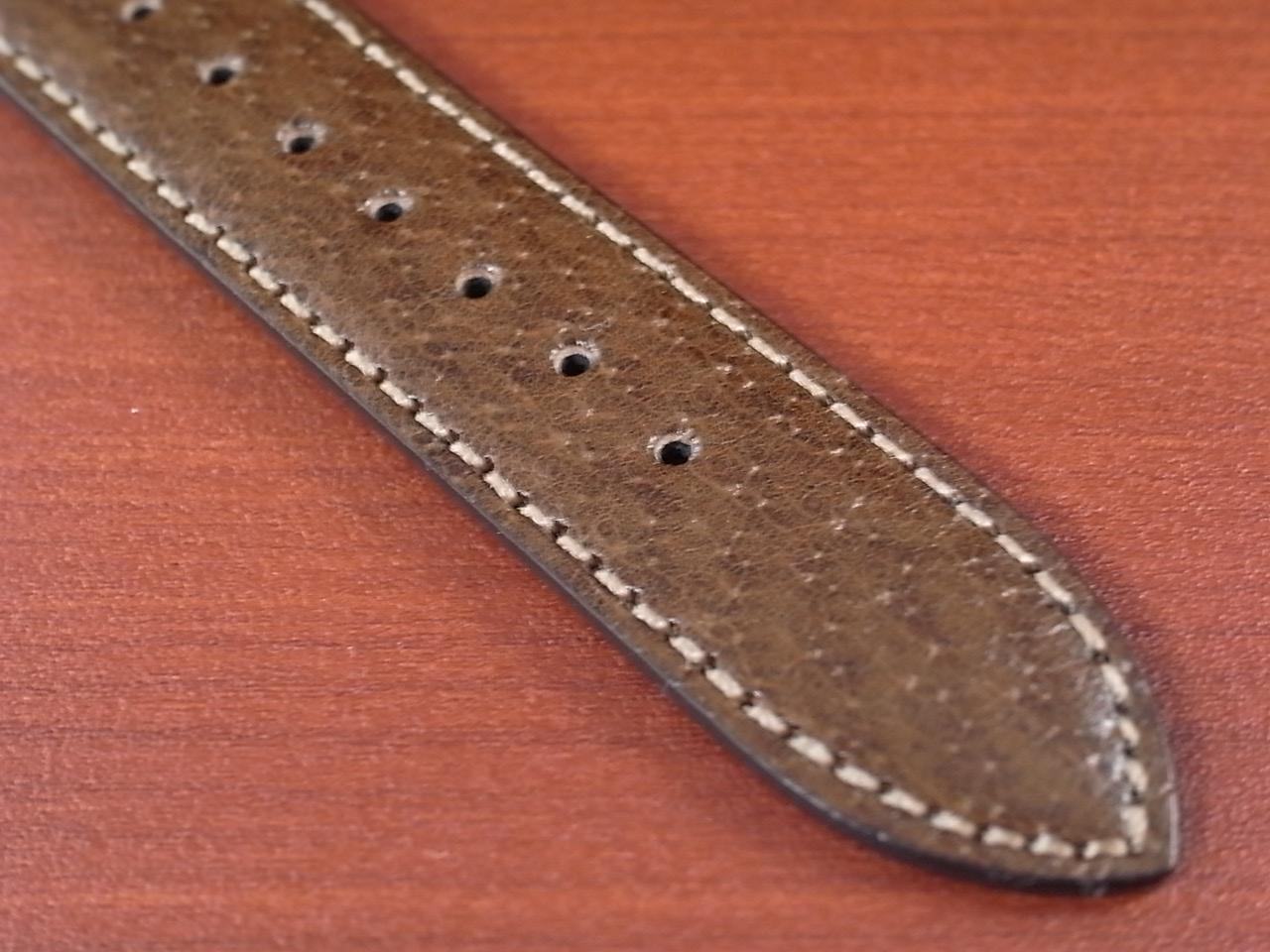ピッグ革ベルト オープンエンド 茶 16、18mm CSA-003bの写真5枚目