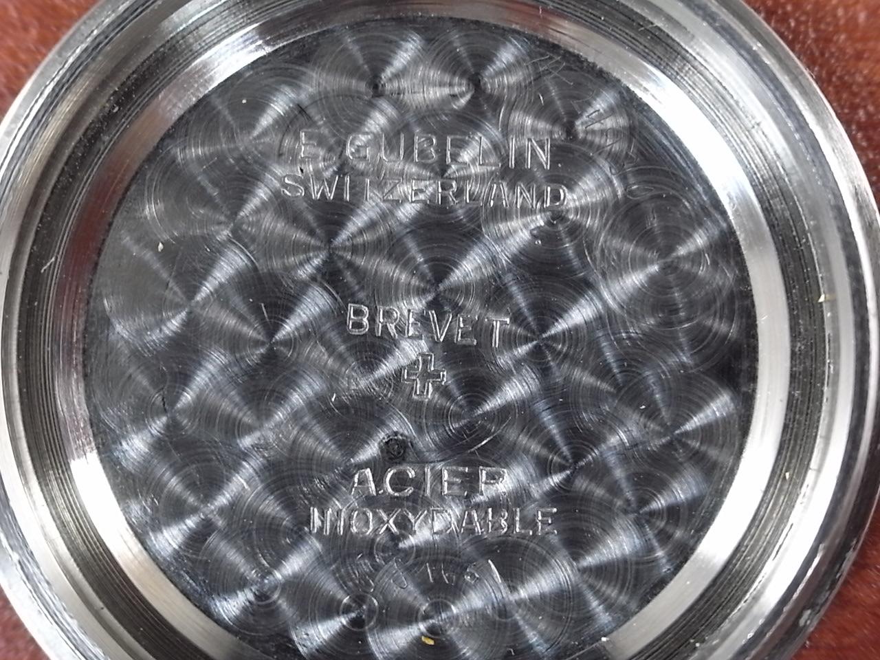 ギュブラン スイス高級宝飾店 ブラックミラー ボーイズ スクリューバック 1940年代の写真6枚目