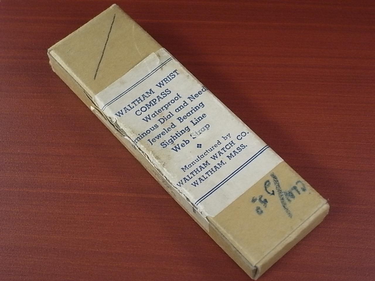 ウォルサム ミリタリー リストコンパス BOX付 第二次世界大戦 1940年代の写真5枚目