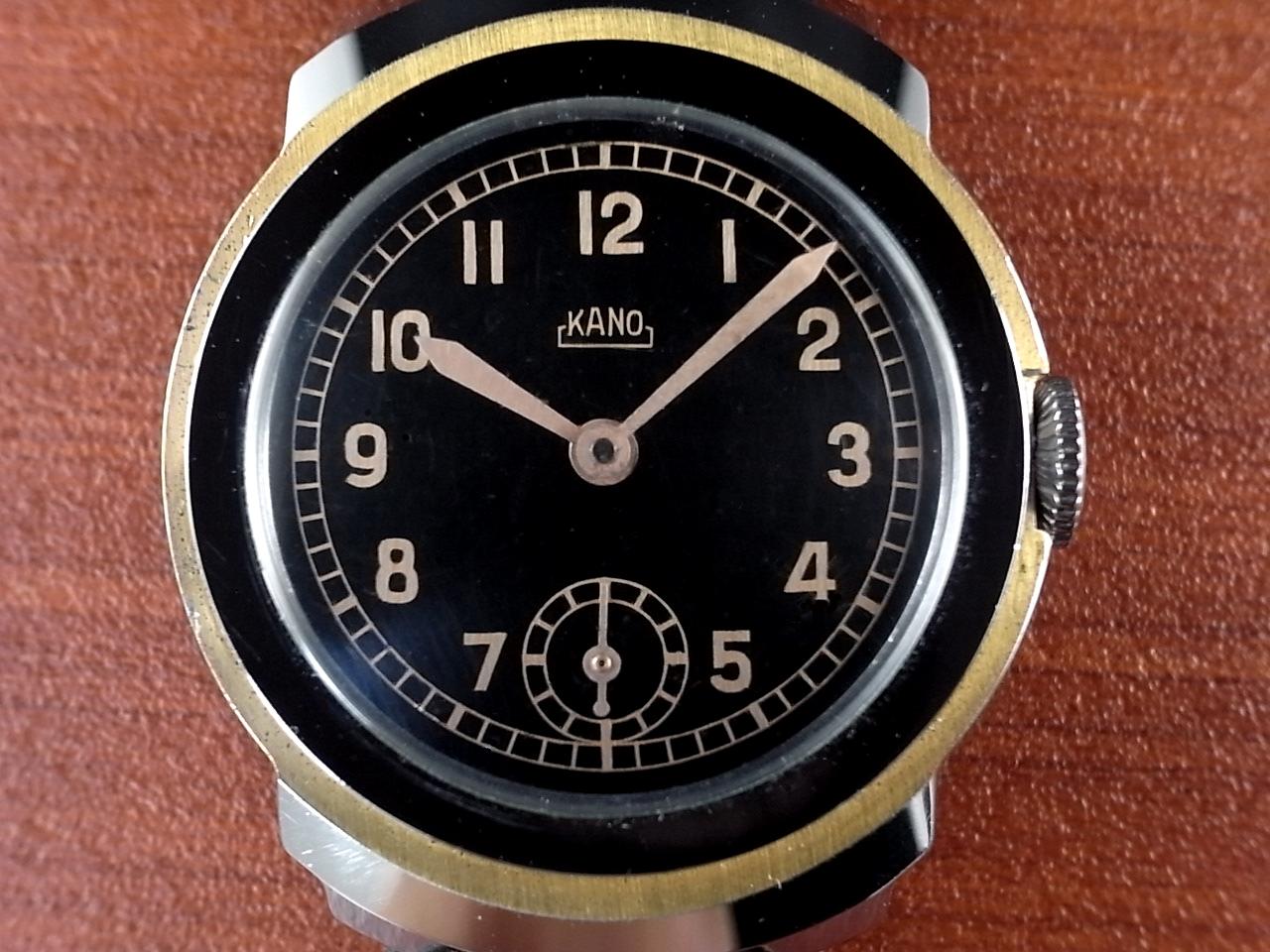 カーノ アールデコ ブラックミラーダイアル N.O.S. ドイツ時計 1930年代の写真2枚目