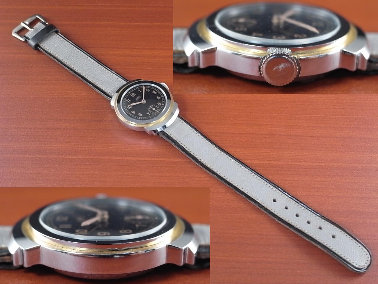 カーノ アールデコ ブラックミラーダイアル N.O.S. ドイツ時計 1930年代の写真3枚目