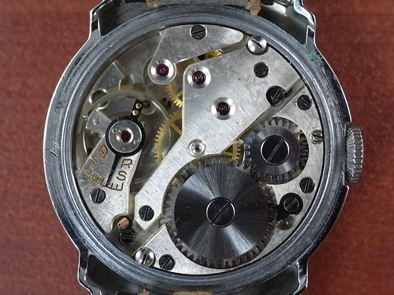 カーノ アールデコ ブラックミラーダイアル N.O.S. ドイツ時計 1930年代の写真5枚目