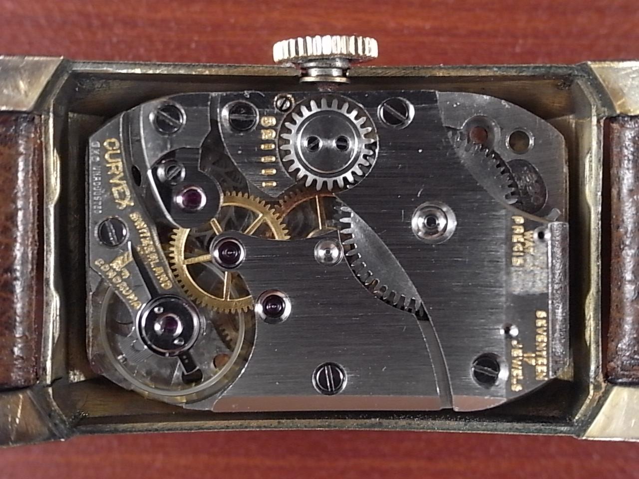 グリュエン カーベックス 14KYGF ブレゲ数字 2トーンダイアル 1930年代の写真3枚目