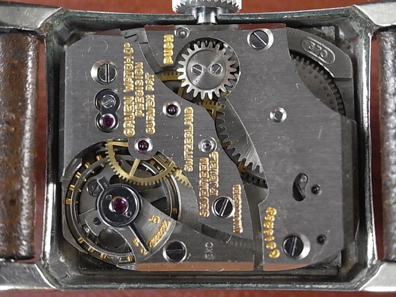 グリュエン カーベックス 10KWGF ブラックミラーダイアル Cal.370 1940年代の写真5枚目