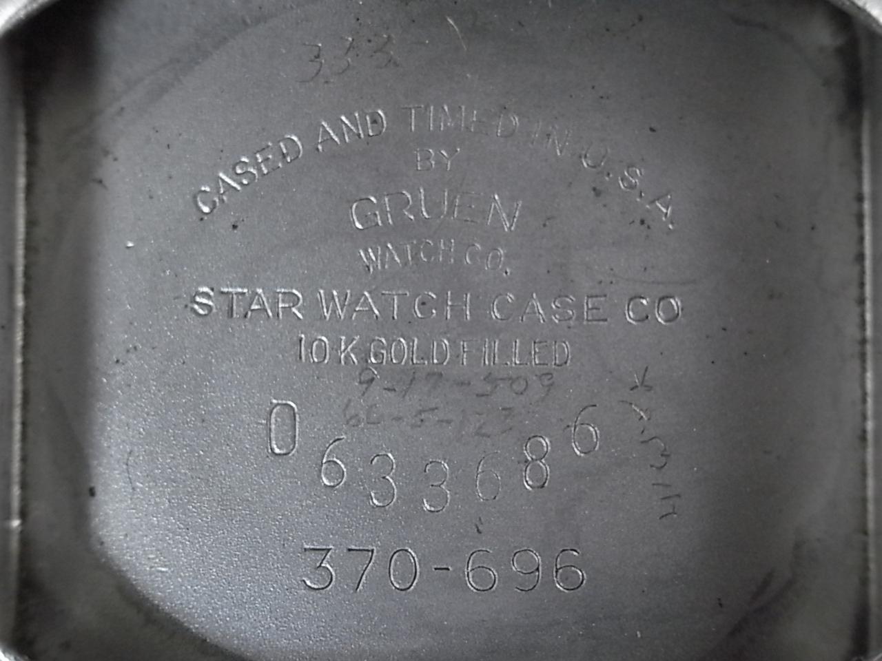 グリュエン カーベックス 10KWGF ブラックミラーダイアル Cal.370 1940年代の写真6枚目