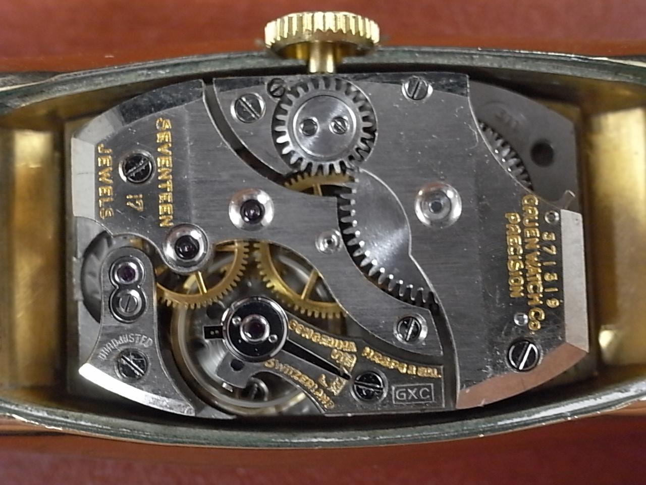 グリュエン カーベックス ロングトノー ブラックダイアル Cal.311 1930年代の写真5枚目