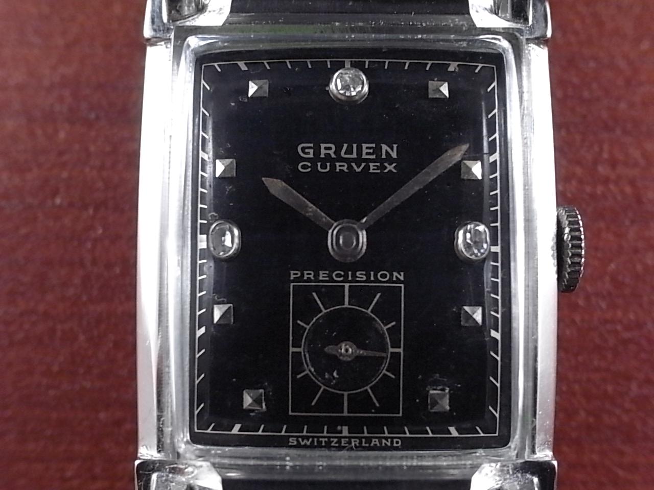 グリュエン カーベックス 14KWG ダイヤモンド Cal.440 1940年代の写真2枚目