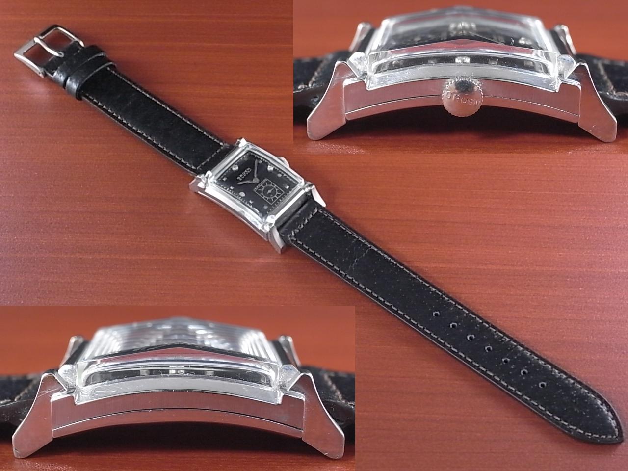 グリュエン カーベックス 14KWG ダイヤモンド Cal.440 1940年代の写真3枚目