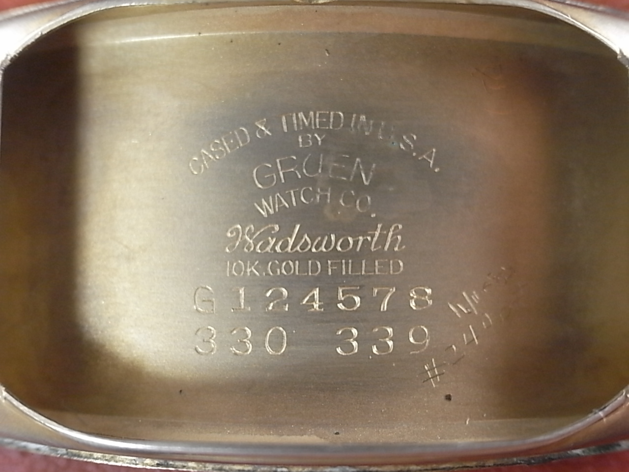 グリュエン カーベックス 10KYGF トノーケース Cal.330 1930年代の写真6枚目