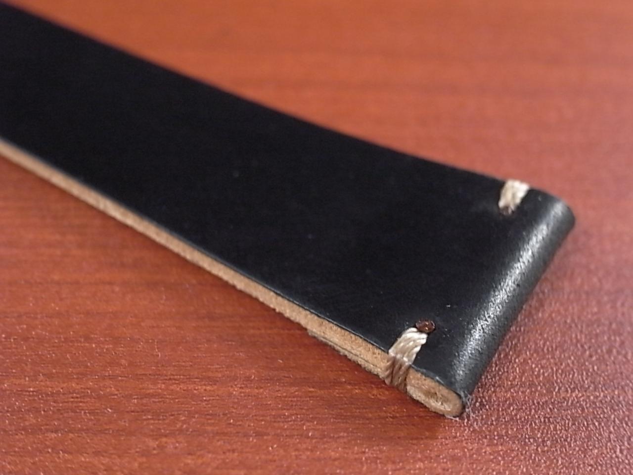 ホーウィン コードバン レギュラーA ブラック 20mmの写真6枚目