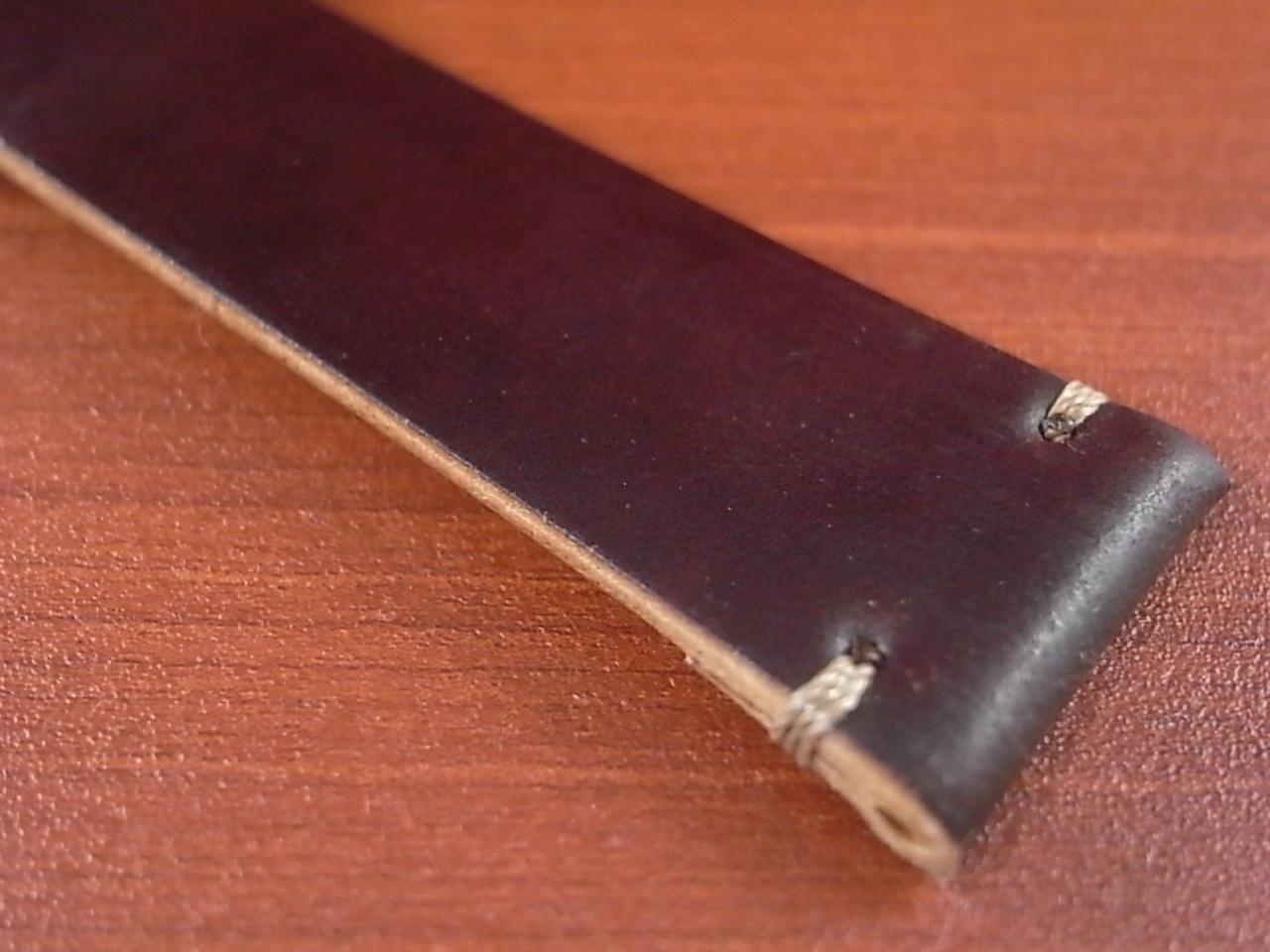ホーウィン コードバン レギュラーA バーガンディ 20mmの写真6枚目