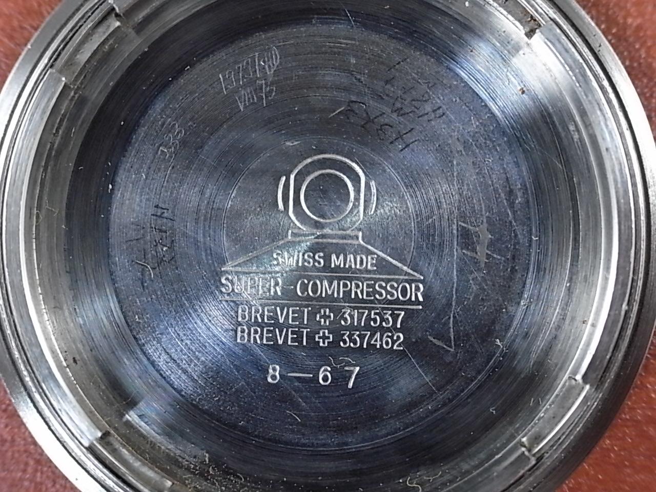 アンバー ダイバーズウォッチ インナーベゼル スーパーコンプレッサー 1960年代の写真6枚目