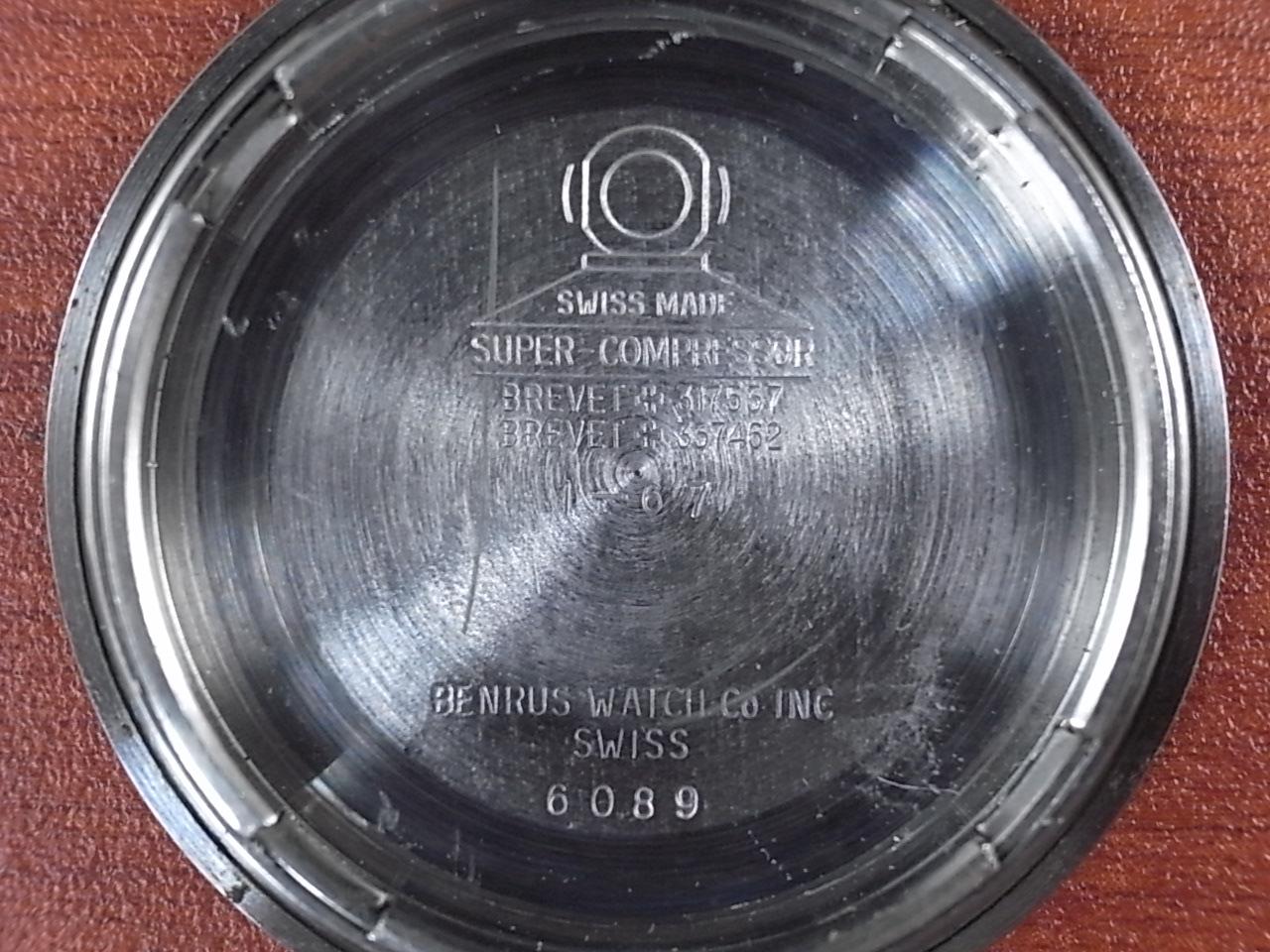 ベンラス ウルトラディープ ダイバーズウォッチ スーパーコンプレッサー 1960年代の写真6枚目