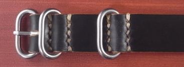 ホーウィン コードバン 引き通し革ベルト ブラック 17~24mm 受注生産