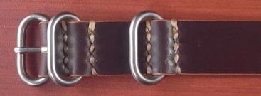 ホーウィン コードバン 引き通し革ベルト バーガンディ 17~24mm 受注生産