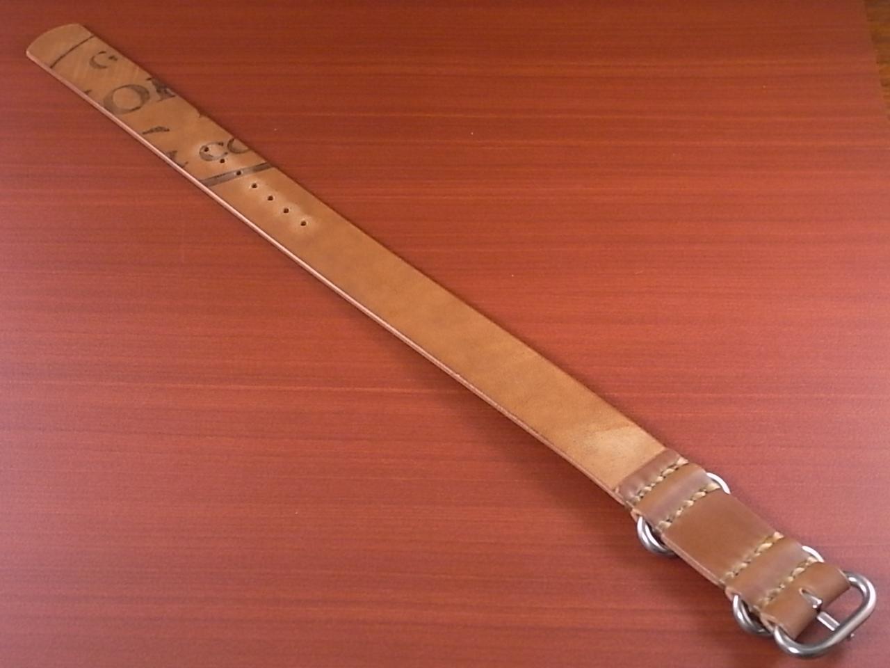 ホーウィン コードバン 引き通し革ベルト ウィスキー 17~24mm 受注生産の写真2枚目