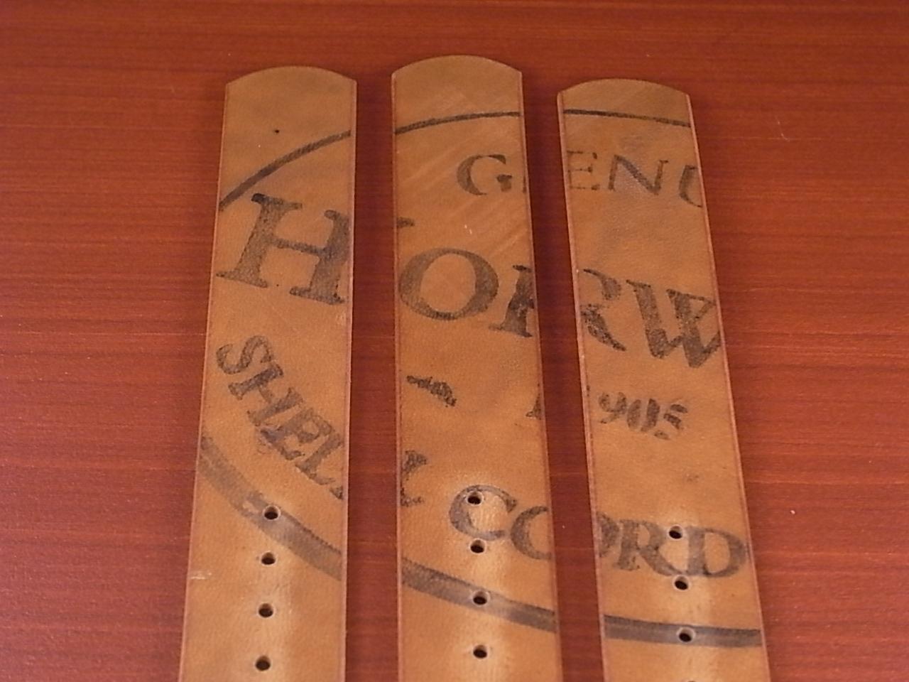 ホーウィン コードバン 引き通し革ベルト ウィスキー 17~24mm 受注生産の写真6枚目