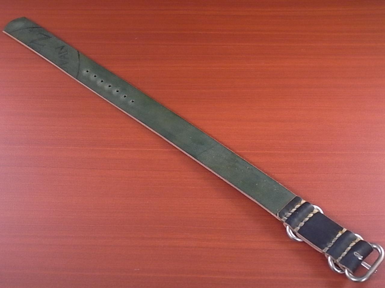 ホーウィン コードバン 引き通し革ベルト ネイビー 17~24mm 受注生産の写真2枚目