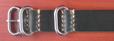 ホーウィン コードバン 引き通し革ベルト グリーン 17~24mm 受注生産