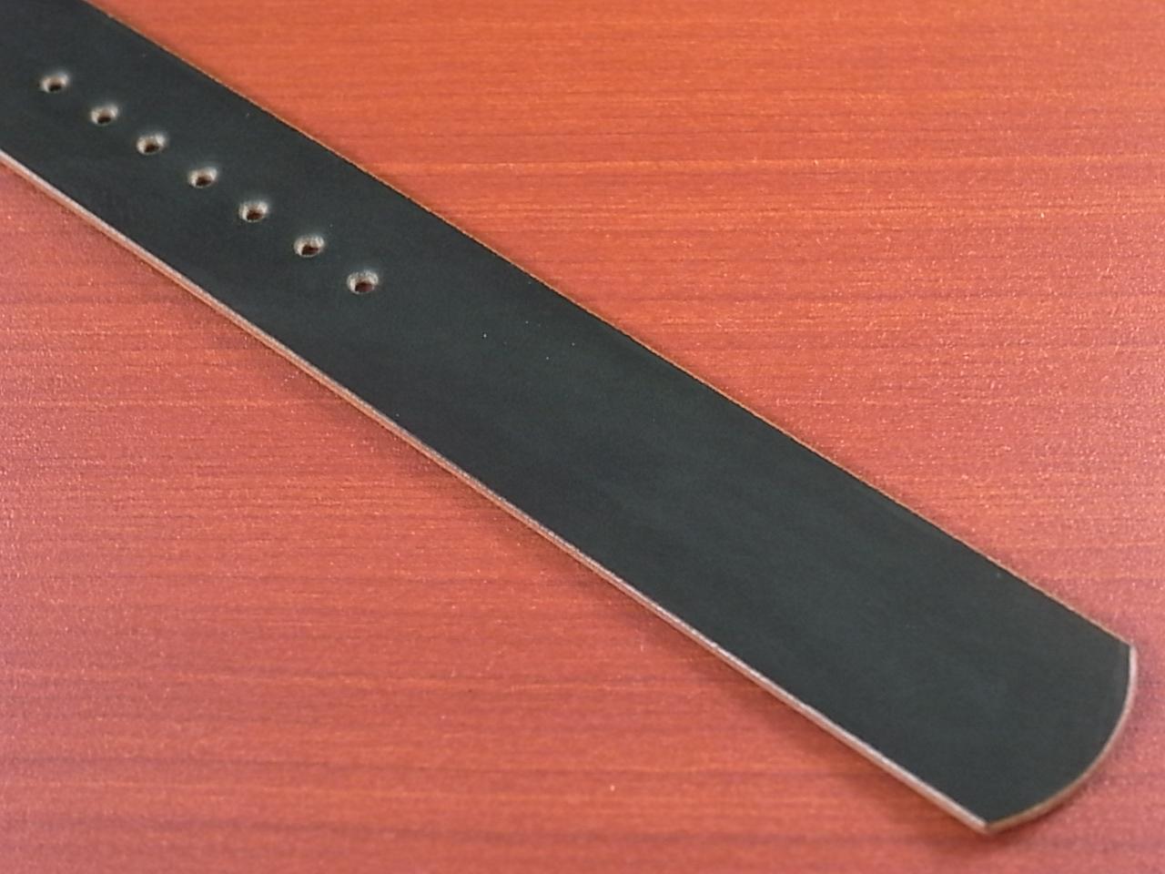 ホーウィン コードバン 引き通し革ベルト グリーン 17~24mm 受注生産の写真5枚目