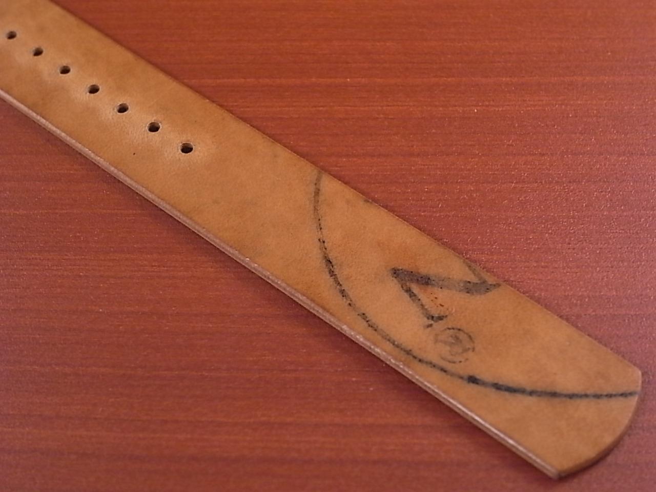 ホーウィン コードバン 引き通し革ベルト No.4(赤茶) 17~24mm 受注生産の写真6枚目